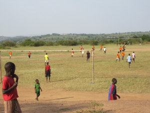 boys on the soccer field