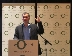 Peter Beinart addresses the CTWAC's Executive Forum