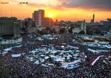 Tahrir Square in 2011 revolution