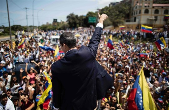 Guaido with Supporteres (NBC)